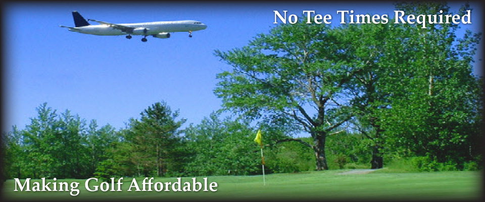 Airplane over golf course | Making Golf Affordable | No Tee Times Required