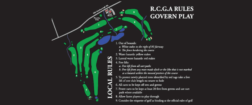RCGA Rules Govern Play
