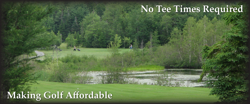 Golfers near tree line | Making Golf Affordable | No Tee Times Required